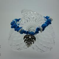 ターコイズとモンステラのブレスレット - Hawaiian jewelry -