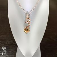 <Rose14kgf> ひと粒のしずく - yellow necklace -