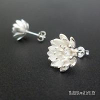 Lotus 蓮の花のピアス - stud silver -