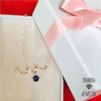Sapphire dew - サファイアのネックレス