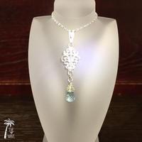 silver leaf - blue topaz