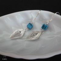 diamond silver - turquoise