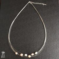 五線音符のネックレス - Pearl mix -