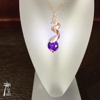 <Rose14kgf> ひと粒のしずく - violet necklace -