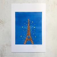 アートプリントA4 / Eiffel tower by night