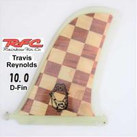 RAINBOW FIN レインボーフィン ロングボード用フィン classic wood Travis Reynolds D-FIN 10.0