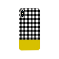Gingham Mustard  片面 smart phone cover