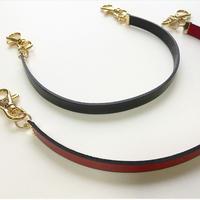 Italian leather short strap