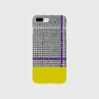 myclozette × cen glencheck/mustard 片面 smart phone cover