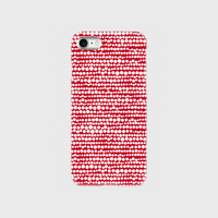 点、点、点。dot white / red 片面 smart phone cover