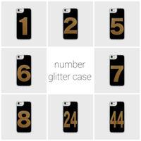 black number glitter smart phone cover