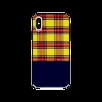 myclozette yellow check 片面 smart phone cover