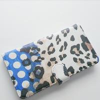 leopard & dot 手帳型 / iPhone