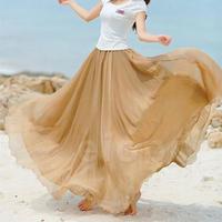 スカート❤色豊富 リゾートにぴったり❤マキシ丈ウエストゴムのスカート♪ hdfks960014