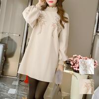 ワンピース❤ボトムスと組合わせてもOKなミニ丈韓国ファッションワンピ hdfks958101