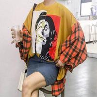 シャツ❤ドルマンスリーブとチェックが可愛いゆったりシャツ hdfks961026