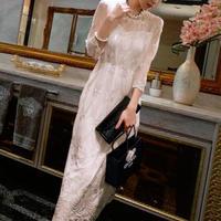 ドレス❤ワンピース 総レースのおしとやかで、上品清楚な韓国ドレス hdfks961686