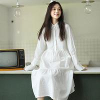 ワンピース❤ふんわり感、満載のやさしいシャツワンピ hdfks961043