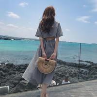 ワンピース❤バックコンシャスで淡い色合いの夏真っ盛りワンピ! hdfks961519