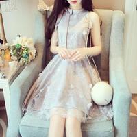 ワンピース❤韓国ドレス リボンと花びら可愛いお嬢様お姫様なプリンセスドレス hdfks962094