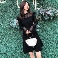 ワンピース❤韓国ドレス とってもフェミニン可愛いレースとフリルのオルチャンドレス hdfks962431