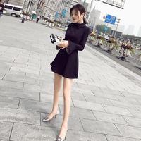 ワンピース❤ボウタイリボンでAライン袖フレア!韓国ちっくなミニ丈ワンピ hdfks961097