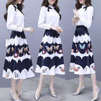 ワンピース❤韓国ドレス とっても大人可愛いエレガントフェミニンガーリーなミモレワンピ hdfks962166