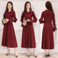 ワンピース❤韓国ドレス フリルが可愛いおしとやかな上品ワンピース hdfks961906