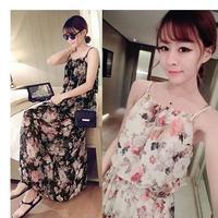 ワンピース❤手軽に着て欲しい花柄のキャミソールマキシワンピ hdfks961206