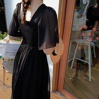 ワンピース❤ナチュラルフェミニンな夏の韓国ファッションミモレワンピ hdfks962361