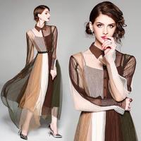 ワンピース❤秋色豊かなレトロデザイン韓国ドレス hdfks961876
