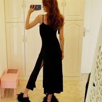 ワンピース❤韓国ファッション!大きなスリットがセクシーなキャミワンピ! hdfks961533