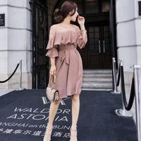 ドレス❤ワンピース オフショルサーシースルーの韓国ファッション的なパーティドレス! hdfks961291