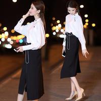 ワンピース❤セットアップ アシンメトリースカートと首元のボタンが可愛いトップスのセットアップワンピ hdfks961772