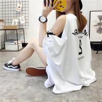 トップス❤Tシャツ オフショルダーダボダボ感が可愛いスポーティなシャツ hdfks961083