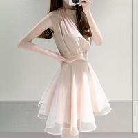 ワンピース❤ノースリーブのフェミニン可愛いワンピースドレス hdfks962149
