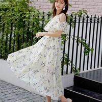 ワンピース❤とっても花柄可愛い人気のデザインのゆるふわミモレワンピ hdfks962174