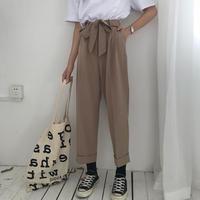 パンツ❤ウエストリボンで韓国ファッションなサルエルパンツ! hdfks961093