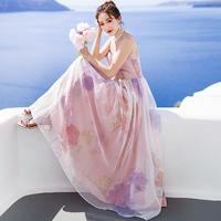 ワンピース❤韓国ドレス 花柄可愛いキャミソールのお嬢様お姫様ワンピ hdfks962315