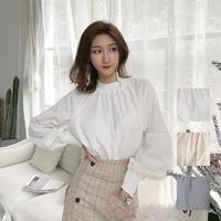 トップス❤バルーンスリーブでダボダボ感が韓国ファッションのブラウス hdfks958218