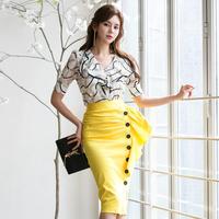 ワンピース❤ツーピース フリルアシンメトリーなスカートと大人柄カシュクールなトップスのセットアップ hdfks962187