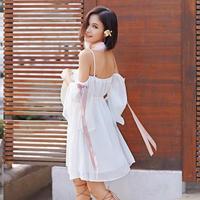 ワンピース❤オフショルダーで妖精のような可愛いガーリーミニワンピ hdfks961245