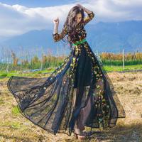 ワンピース❤韓国ドレス 花柄とっても可愛い華やかなドレスリゾートワンピース hdfks962043