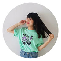 バニー柄Tシャツ(メロン)