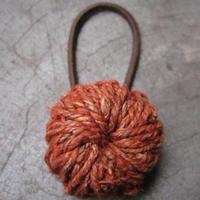 ヘンプヘアゴム/赤橙 yhgh-10