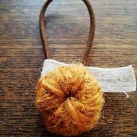 ヘンプウールヘアゴム/橙 yhghw-10