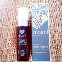 moani organics GOLDEN JOJOBA OIL extra pure for all skin types ゴールデンホホバオイル保湿美容液(ラベンダー&ティーツリー)