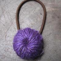 コットンヘンプヘアゴム/花紫 yhghc-06