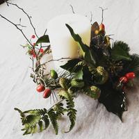 テーブルキャンドルお正月飾り