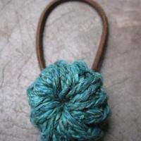 ヘンプヘアゴム/青緑 yhgh-05